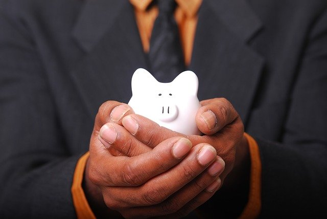 financially smart with a piggy bank